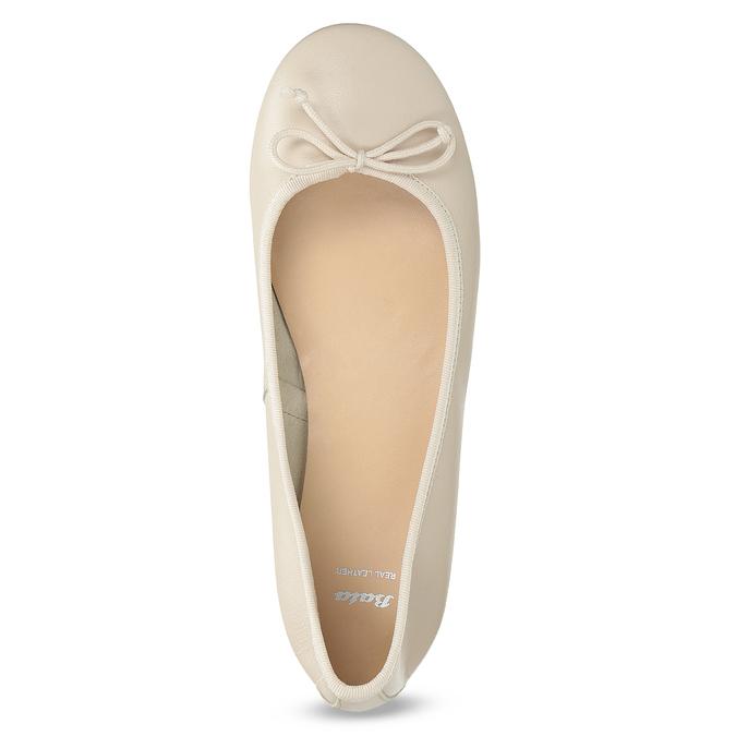 Béžové kožené dámske baleríny bata, béžová, 524-8144 - 17