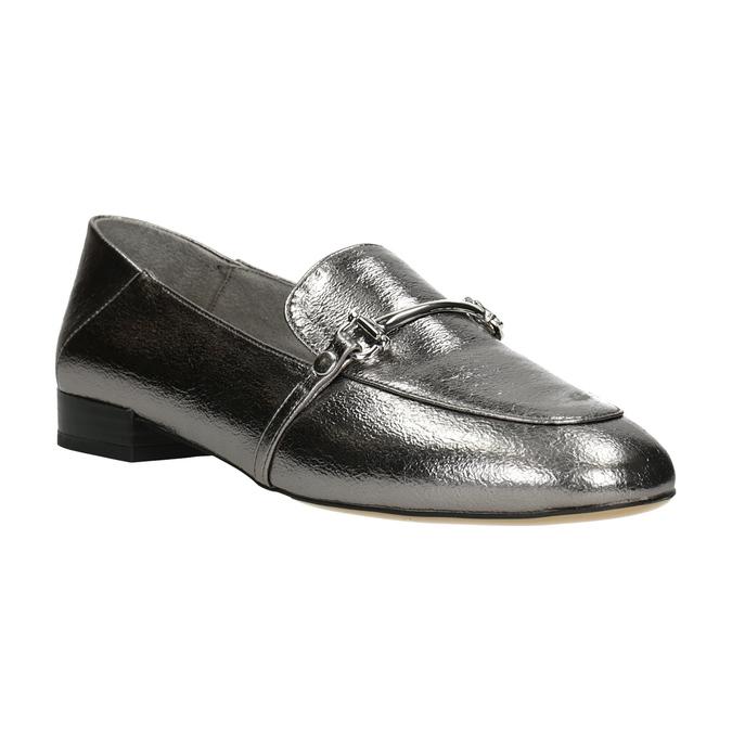Strieborné mokasíny s prackou bata, strieborná, 511-1609 - 13