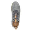 Šedé pánske tenisky z brúsenej kože bata, šedá, 843-2634 - 17