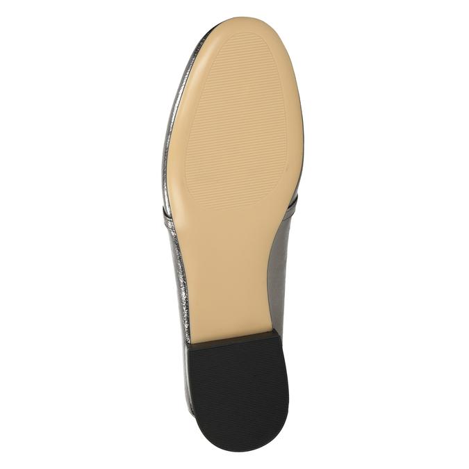 Strieborné mokasíny s prackou bata, strieborná, 511-1609 - 17