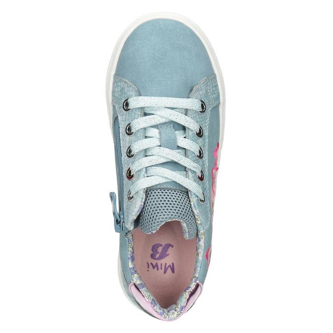 Modré dievčenské tenisky s výšivkou mini-b, 321-9381 - 15