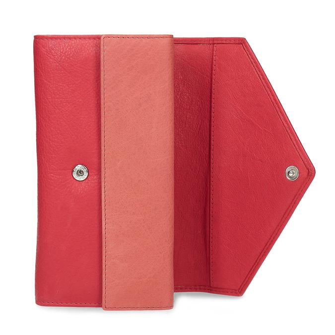 Dámska kožená peňaženka bata, červená, 944-5211 - 15