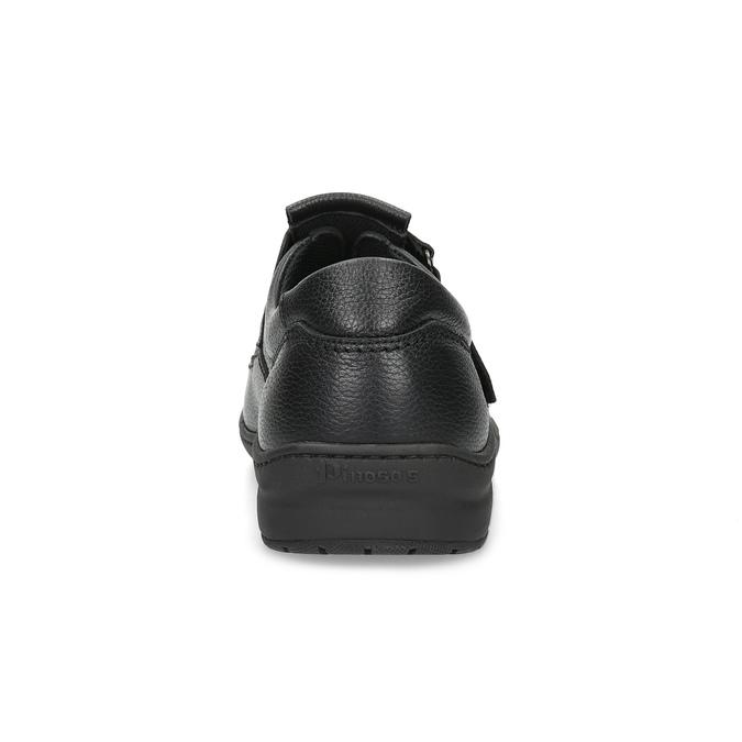 Pánske sandále z kože pinosos, čierna, 864-6626 - 15