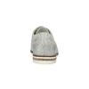 Dámske kožené Brogue poltopánky bata, šedá, 526-1649 - 15