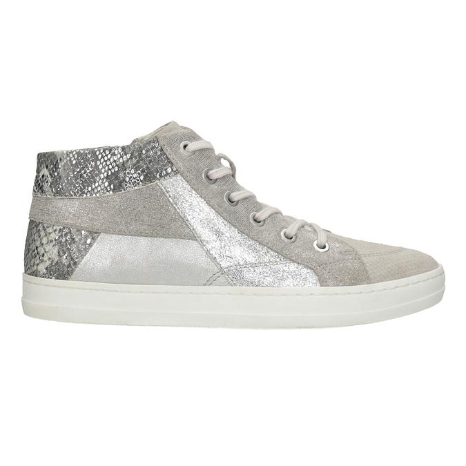 Členkové kožené tenisky bata, šedá, 546-2608 - 26