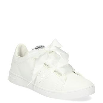 Biele tenisky so saténovou mašľou pepe-jeans, biela, 541-1076 - 13