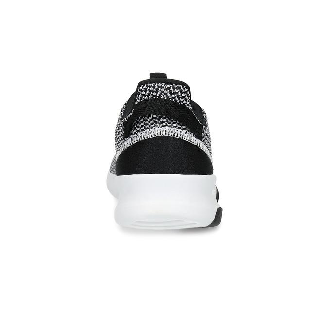 Čierno-biele tenisky s tkaným vzorom adidas, biela, 809-1101 - 15