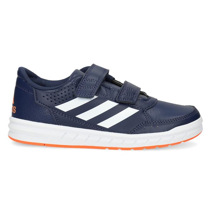 Modré detské tenisky na suchý zips adidas, modrá, 301-9151 - 19