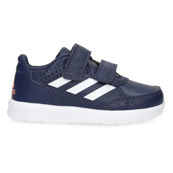 Modré tenisky na suchý zips adidas, modrá, 101-9151 - 19