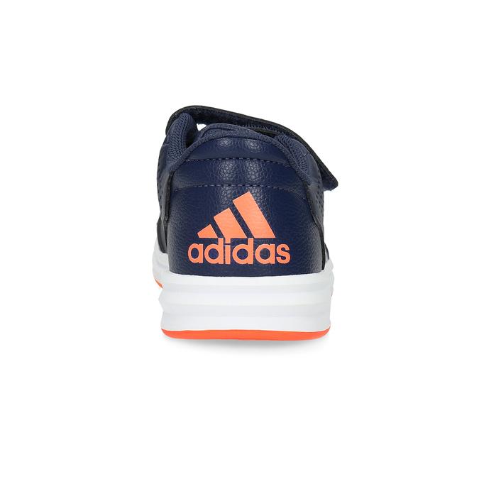 Modré detské tenisky na suchý zips adidas, modrá, 301-9151 - 15