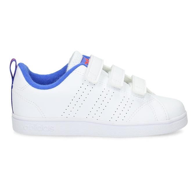 Biele detské tenisky na suchý zips adidas, biela, 301-1968 - 19