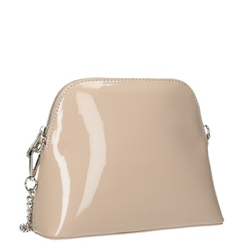 Dámska lakovaná kabelka bata, béžová, 961-8850 - 13
