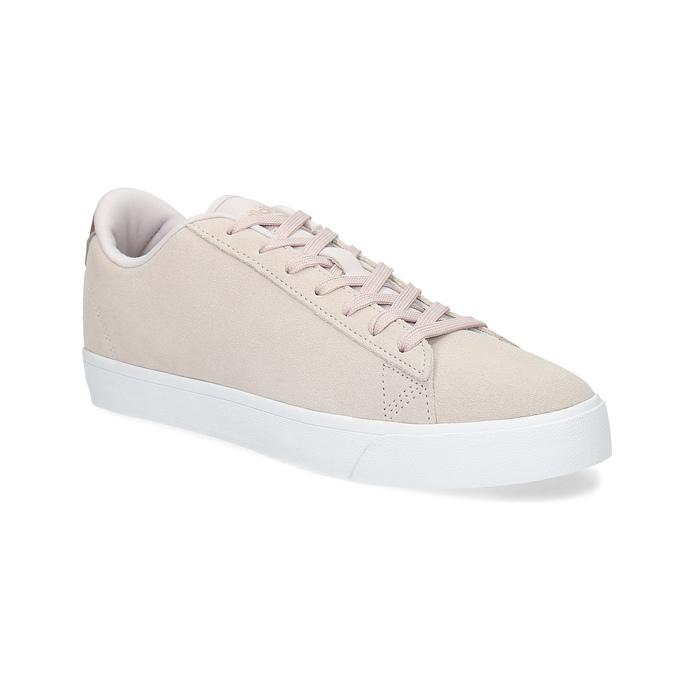 Ružové tenisky z brúsenej kože adidas, ružová, 503-2554 - 13