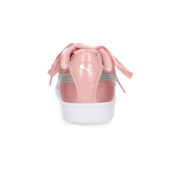 Ružové saténové tenisky s mašľou puma, ružová, 509-5718 - 15