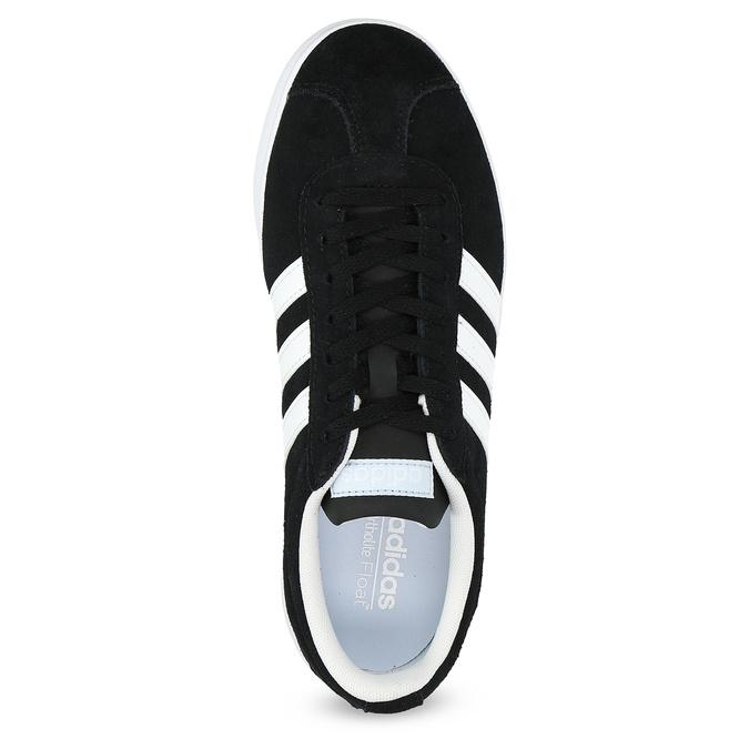 Čierne dámske tenisky z brúsenej kože adidas, čierna, 503-6379 - 17