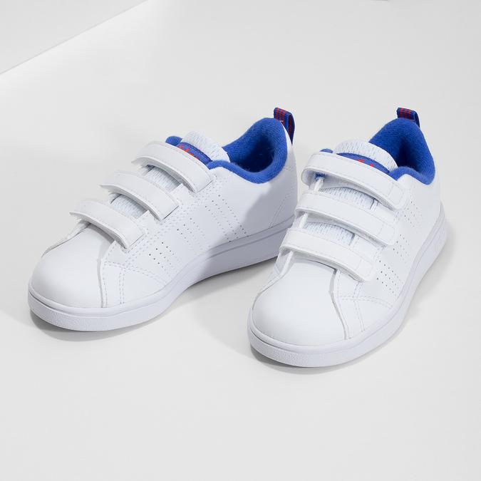 Biele detské tenisky na suchý zips adidas, biela, 301-1968 - 16