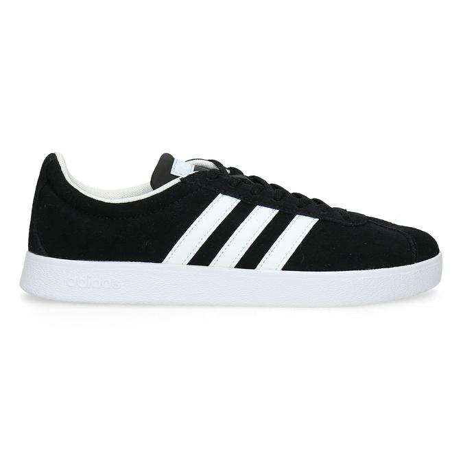 Čierne dámske tenisky z brúsenej kože adidas, čierna, 503-6379 - 19