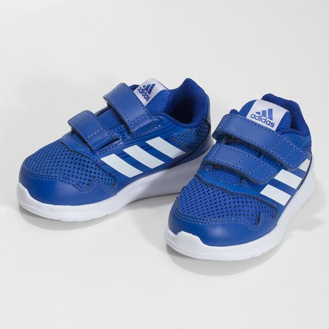 Modré detské tenisky adidas, modrá, 109-9147 - 16