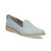 Kožená dámska Loafers obuv bata, modrá, 519-9605 - 13