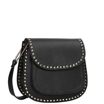 Čierna Crossbody kabelka s cvočkami bata, čierna, 961-6844 - 13
