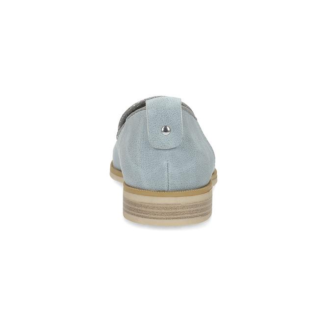 Kožená dámska Loafers obuv bata, modrá, 519-9605 - 15