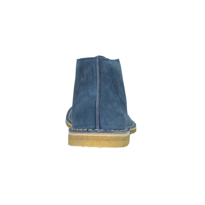 Modré kožené Desert Boots bata, modrá, 823-9622 - 15
