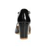 Dámske lakované lodičky insolia, čierna, 721-6611 - 16