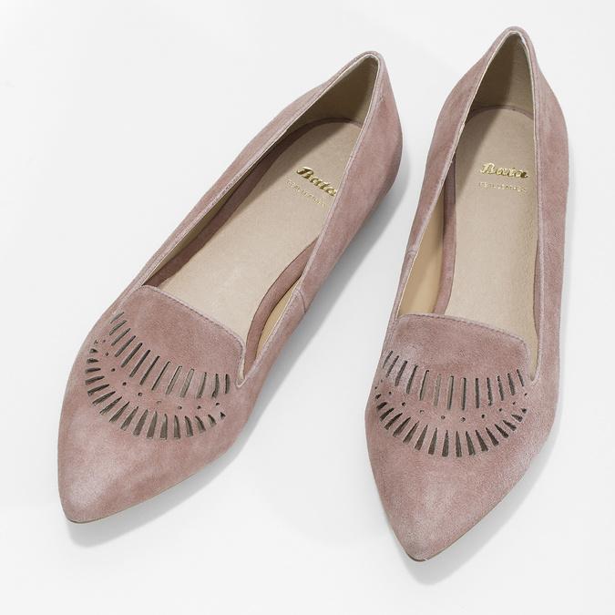 Dámska kožená Loafers obuv bata, 523-5659 - 16