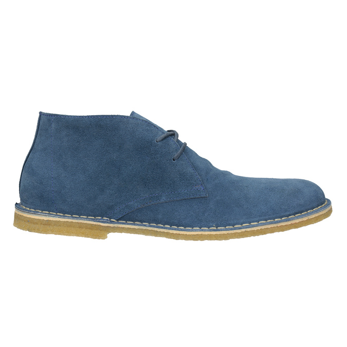 Modré kožené Desert Boots bata, modrá, 823-9622 - 16