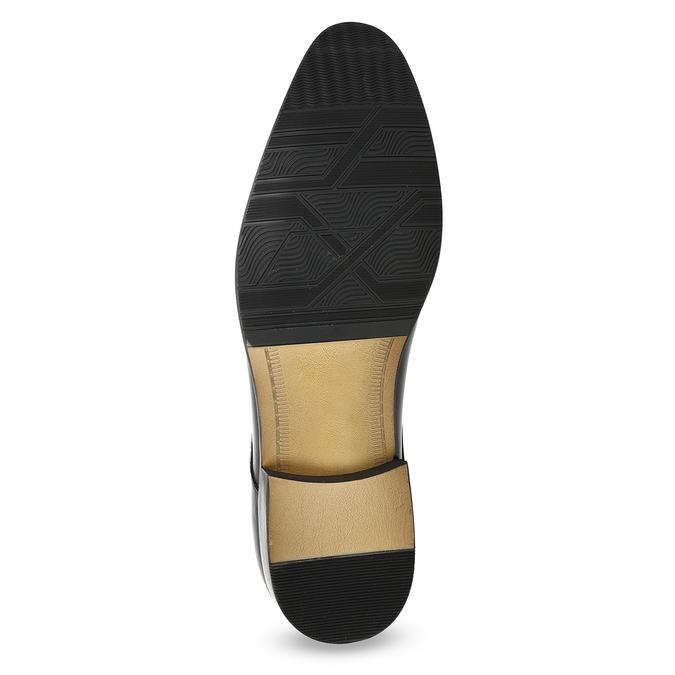 Pánske kožené Derby poltopánky bata, čierna, 824-6233 - 18
