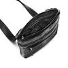 Čierna kožená Crossbody taška bata, čierna, 964-6288 - 16