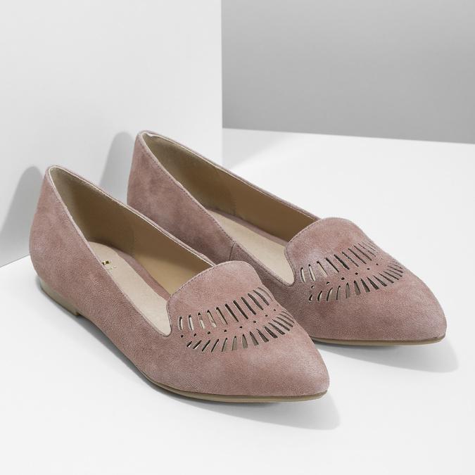 Dámska kožená Loafers obuv bata, 523-5659 - 26