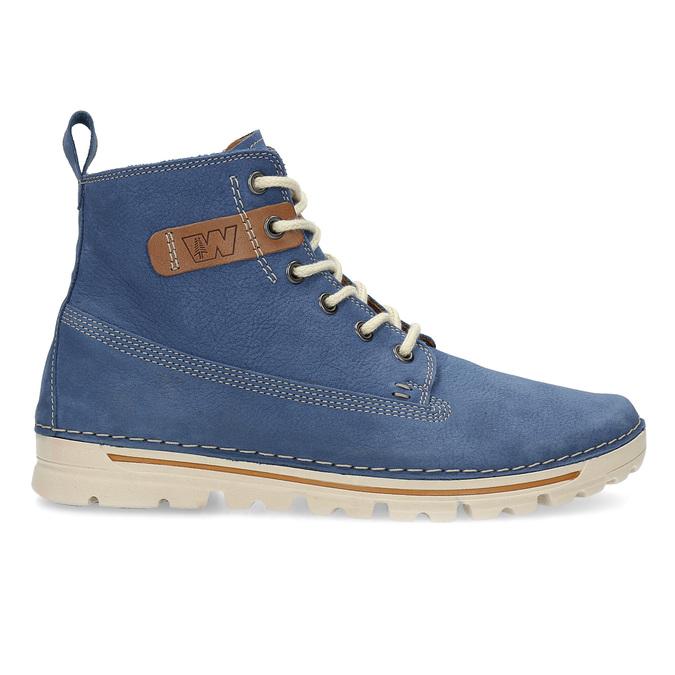 Dámska kožená členková obuv weinbrenner, modrá, 594-9666 - 19