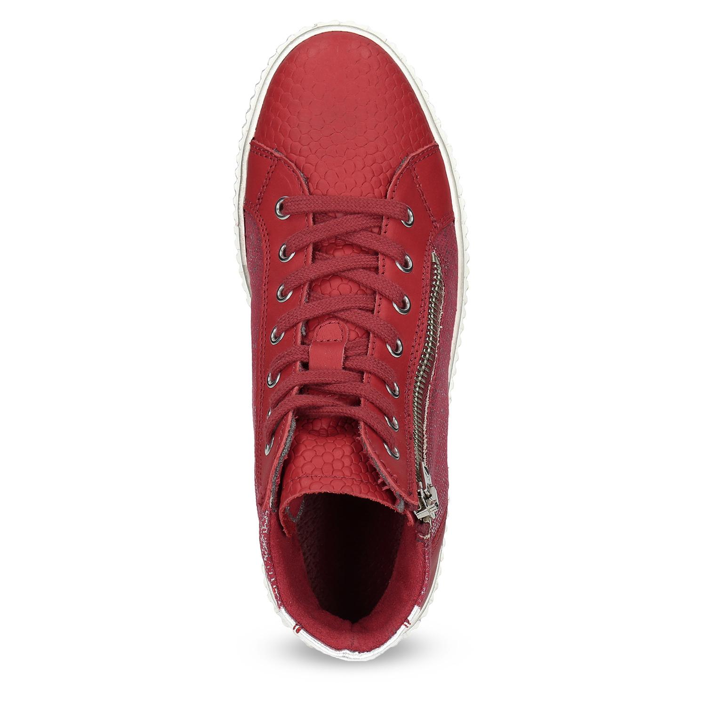 86495fbc44 Bata Kožené členkové tenisky červené - Tenisky