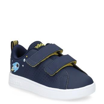 Detské modré tenisky na suchý zips adidas, modrá, 101-9129 - 13