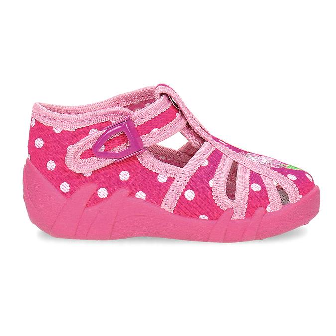 Dievčenské ružové papuče mini-b, 179-5601 - 19