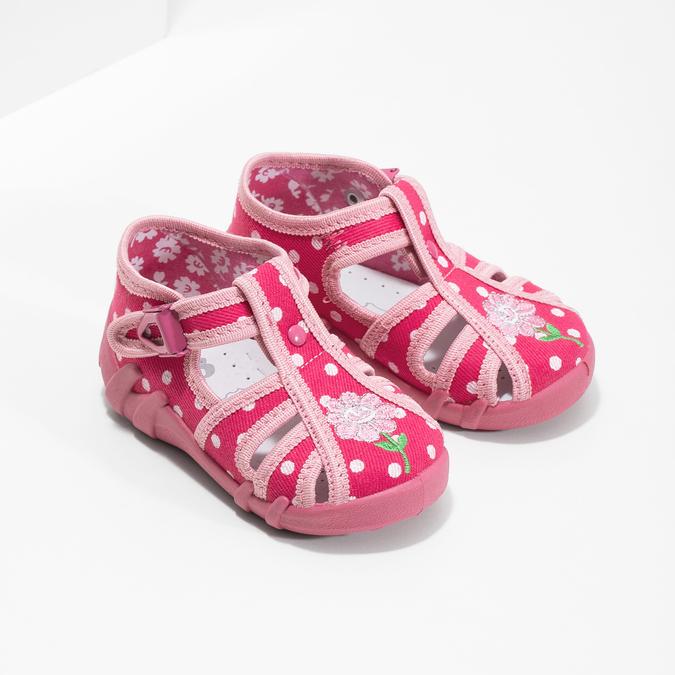 Dievčenské ružové papuče mini-b, 179-5601 - 26