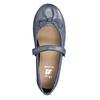 Modré kožené dievčenské baleríny mini-b, modrá, 326-9602 - 15