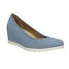 Dámske modré lodičky na kline bata, modrá, 629-9636 - 13