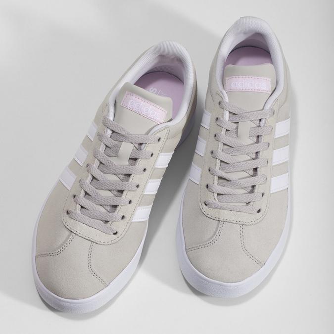 Béžové dámske kožené tenisky adidas, béžová, 503-8379 - 16