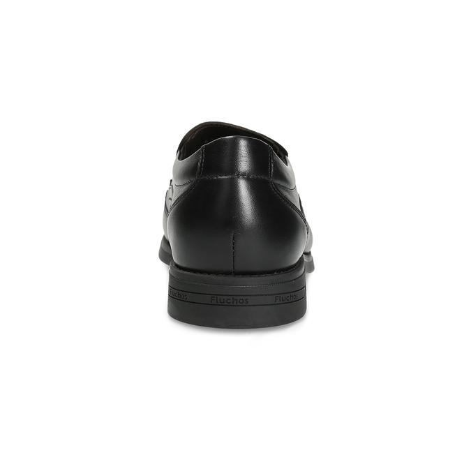 Kožené pánske Loafers fluchos, čierna, 814-6600 - 15