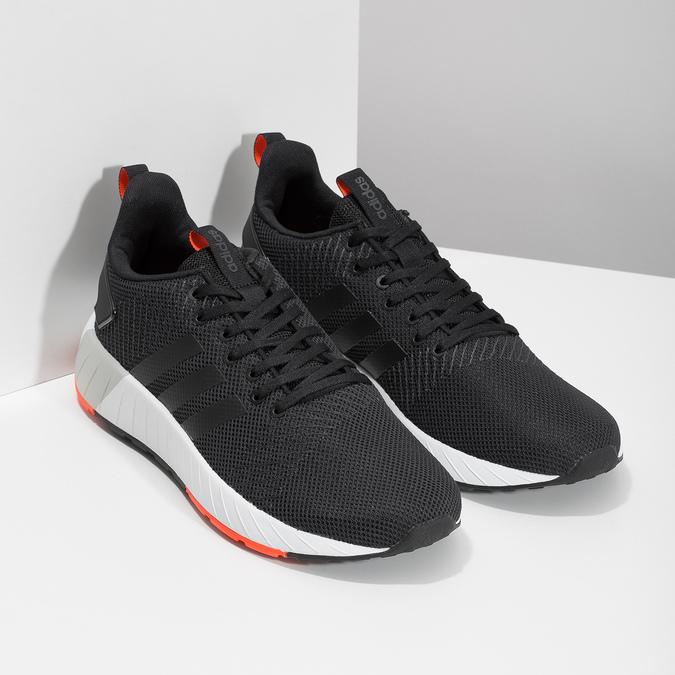 Pánske čierne tenisky s oranžovými detailami adidas, čierna, 809-6579 - 26