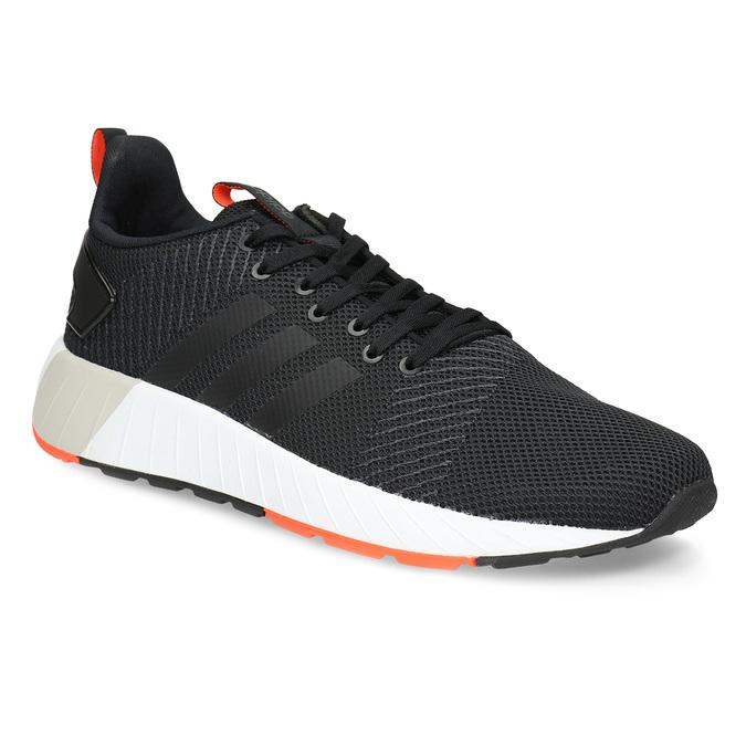 Pánske čierne tenisky s oranžovými detailami adidas, čierna, 809-6579 - 13
