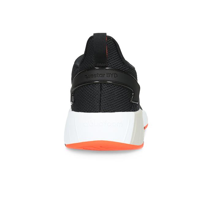 Pánske čierne tenisky s oranžovými detailami adidas, čierna, 809-6579 - 15