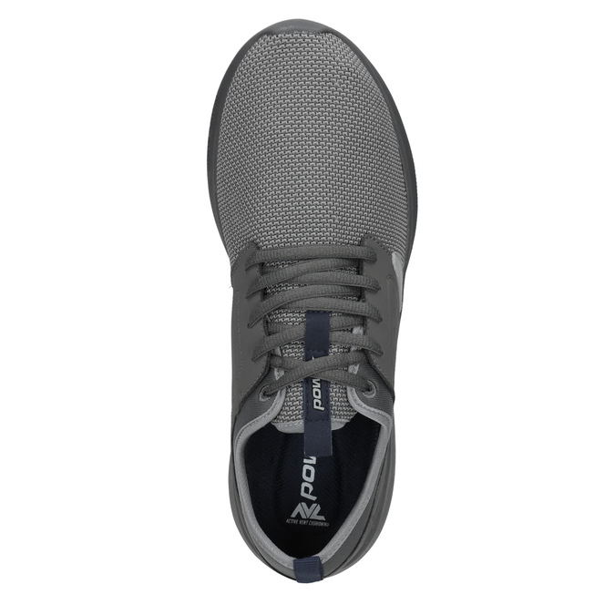 Pánske šedé tenisky v športovom štýle power, šedá, 809-2854 - 15