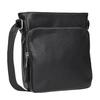 Pánska Crossbody taška s vreckom bata, čierna, 961-6837 - 13