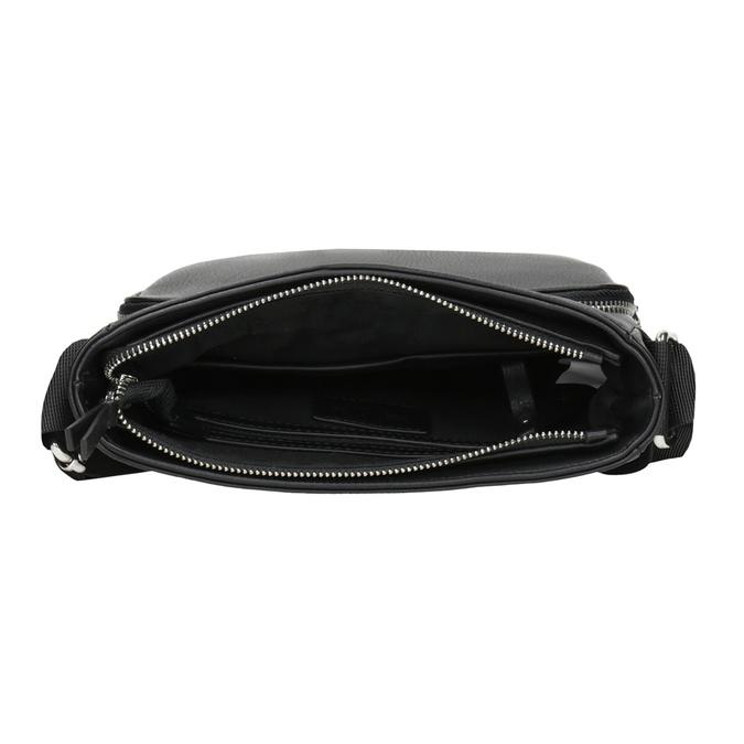 Pánska Crossbody taška s vreckom bata, čierna, 961-6837 - 15