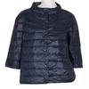 Prešívaný kabát s trojštvrťovým rukávom bata, modrá, 979-9147 - 13