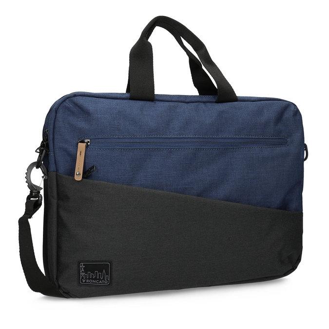 Čierno-modrá taška na notebook roncato, modrá, 969-9698 - 13