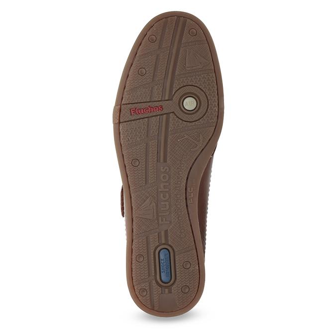 Kožené sandále na suchý zips fluchos, hnedá, 864-4605 - 18